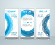 Roll Up Banner Stand Design. Vector Stock Photography