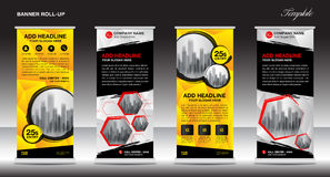 Roll up banner stand design, Vector illustration Royalty Free Stock Image