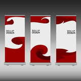 Roll up banner Stock Photos