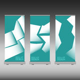 Roll up banner Stock Image