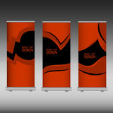 Roll up banner Stock Images