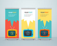Roll Up Banner Stand Design. Vector Royalty Free Stock Photography