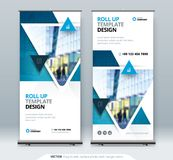 Roll Up Banner stand. Presentation concept. Roll Up Banner stand. Presentation concept design royalty free illustration