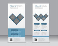 Roll up banner stand template. Abstract background for design,  business, education, advertisement. Stock Photo