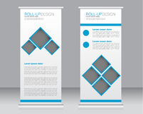 Roll up banner stand template. Abstract background for design,  business, education, advertisement. Stock Photography
