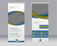 Roll up banner stand template. Abstract background for design, Stock Image