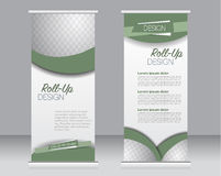 Roll up banner stand template. Abstract background for design,  business, education, advertisement. Stock Photos
