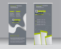 Roll up banner stand template. Abstract background for design, Royalty Free Stock Photo