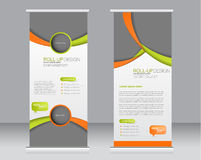 Roll up banner stand template. Abstract background for design, Stock Photography