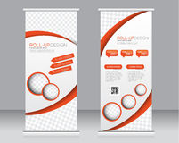 Roll up banner stand template. Abstract background for design, Stock Photo