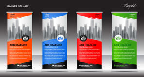 Roll up banner stand template, advertisement, flyer design Stock Image