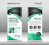 Roll up banner stand template, stand design,banner template, Gre Stock Image
