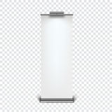 Roll up banner stand Royalty Free Stock Images