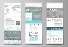 Roll up banner stands, abstract geometric style templates Stock Photo