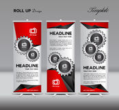 Roll Up Banner template display advertisement vector illustratio Royalty Free Stock Images