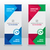 Roll-up banner template, stand design for exhibitions, presentations, seminars, modern business concept. Banner to place advertising information, photo, text Stock Image