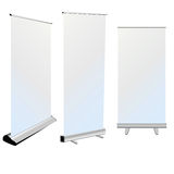 Roll up banner on white background Royalty Free Stock Photo
