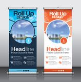 Roll up banner_1. Roll up brochure flyer banner design template , abstract triangle pattern background, modern x-banner, rectangle size stock illustration