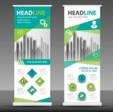 Roll up business brochure flyer banner design, stand template stock illustrationer