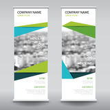 Roll up business brochure flyer banner design vertical template Royalty Free Stock Images