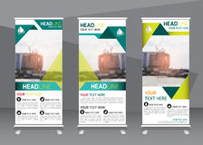 Roll up business brochure flyer banner design vertical template royalty free illustration