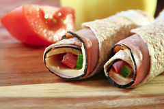 Roll-up del almuerzo Foto de archivo libre de regalías