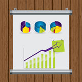 Roll up display nailed to the wall Royalty Free Stock Photos