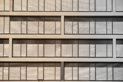 Roll up shutter on a building Royalty Free Stock Image
