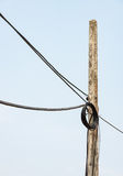 Roll up of the telephone cable. Royalty Free Stock Image