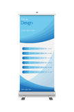 Roll-up with the template design Royalty Free Stock Photos