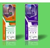 Roll up banner tdesign template stock illustration