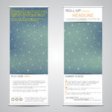 Roll up, vertical banner for presentation and publication. Abstract background. Royalty Free Stock Photos