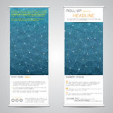 Roll up, vertical banner for presentation and publication. Abstract background. Stock Image