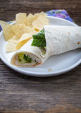 Roll up wrap sandwich Royalty Free Stock Photos