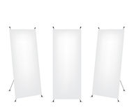 Roll up x-stand banner Stock Photography