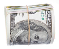 Roll of US 100 dollar bills Royalty Free Stock Image