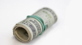 Roll  of US Dollar cash Royalty Free Stock Images