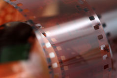 Roll of a vintage 35mm color negative film Royalty Free Stock Images