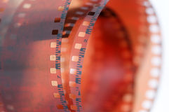 Roll of a vintage 35mm color negative film Royalty Free Stock Photography