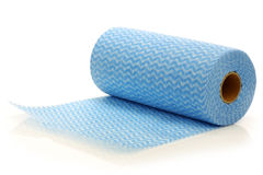 Roll of water absorbing tissues. On a white background stock photos