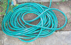 Roll of water hose Stock Image