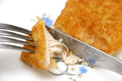 Roll White Chicken Meat Royalty Free Stock Photo