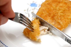 Roll White Chicken Meat Royalty Free Stock Photography