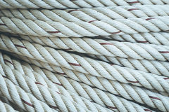 Roll of white rope Stock Photography