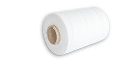 Roll of white thread Royalty Free Stock Images