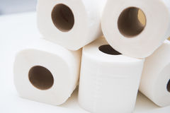 Roll white tissue paper Royalty Free Stock Photo