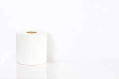 Roll of white toilet paper. Single roll of white toilet paper Stock Photography