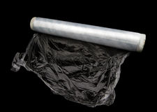 Roll of white wrapping plastic stretch film Royalty Free Stock Images