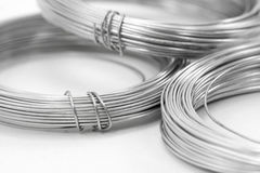 Roll of wire. Roll of iron wire close up Stock Photo