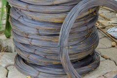 Roll of wire. Roll of iron wire, close up Royalty Free Stock Photos